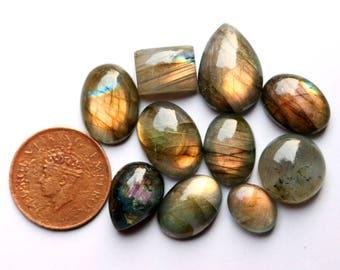 10pcs 135cts. 23x16mm 100% natural multi fire beautiful desgin labradorite Cabochon smooth hand polish jewelry making loos gemstone  SKU0075