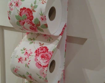 Fabric Toilet Roll Holder. CATH KIDSTON ROSALI fabric