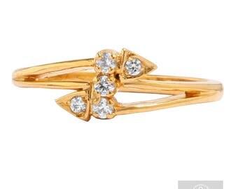 Cupids arrow diamond 9ct gold engagement ring