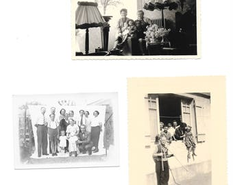 original 3 France old photos of family #1