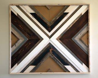 Reclaimed Barn Wood Wall Art, 42 x 46 x 2