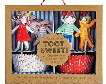 Children Spots & Stripes Cupcake Kit