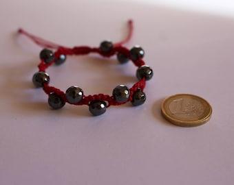 Snake Macrame bracelet with hematite