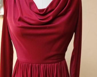 80s Metallic Red Dress