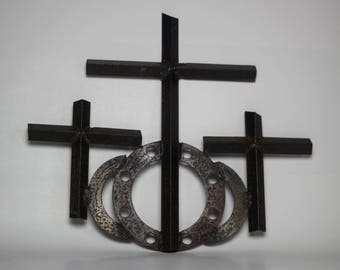 Scrap Metal Christian Cross