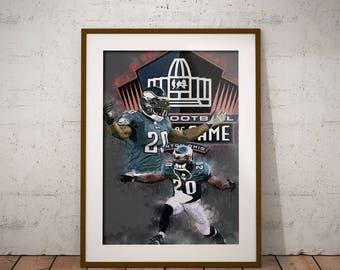 Brian Dawkins Poster, Hall of Fame, Philadelphia Eagles, NFL Art, decor, wall art
