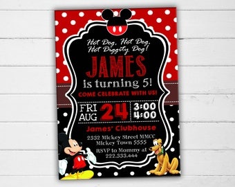 Mickey Mouse Invitation, Mickey Mouse Birthday Invitation, Mickey Mouse Party Invitation, Mickey Mouse Party, Mickey Mouse Invite