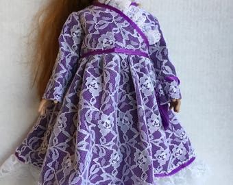 "Satin dress fits 18"" dolls such as American girl"