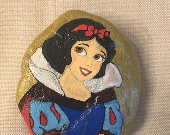 Fairytale Princess painted rock