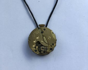 Gold pocketwatch pendant