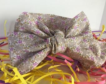 Purple little Flowers Headwraps