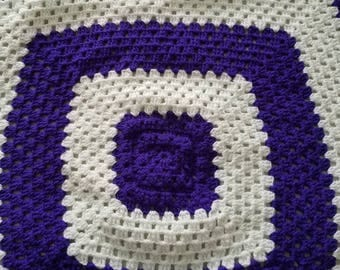Purple and white pattern Baby Blanket