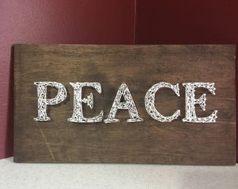 Peace string art