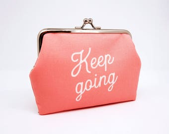 Keep going // frame purse - mini wallet - card case - coin pouch