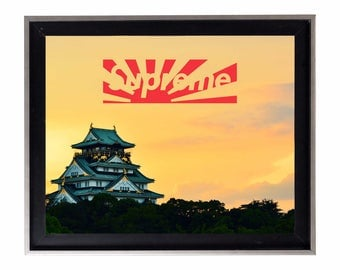 Supreme Japan Relief Box Logo Poster or Art Print