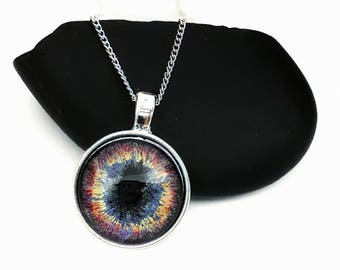 Gods Eye Nebula InspiredPendant/ Cosmic Eye Necklace/ Silver Necklace/ Gifts For Women/ Gift Ideas/ Fantasy Jewelry/ Hand Painted Jewelry