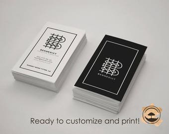 Minimal Luxure  Business Cards Two sides! Print ready!