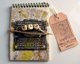 Handmade Peace Notepad with Recycled Paper and London Roads