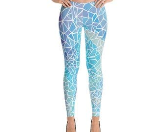 Watercolor Leggings  Boho Leggings  Tribal Leggings  Festival Leggings