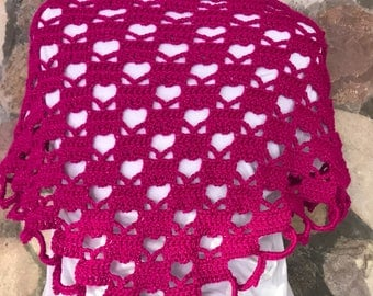 Lots of hearts Shawl