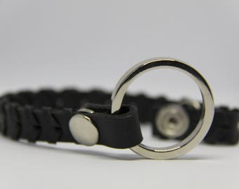 "Bracelet leather ""BRAIDED RING"""