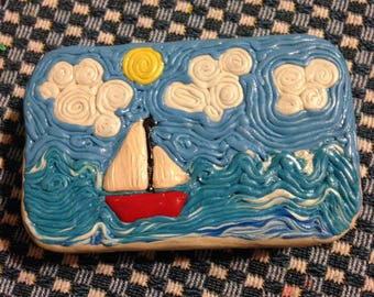 Polymer clay decorated mint tin