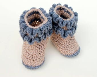 Crochet baby Shoes (#113)