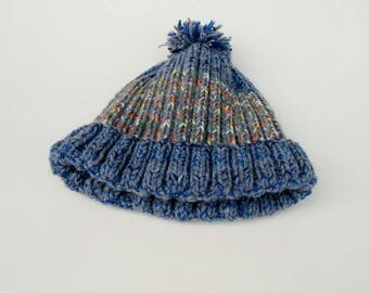 Knit beanie with Bobble (#116)