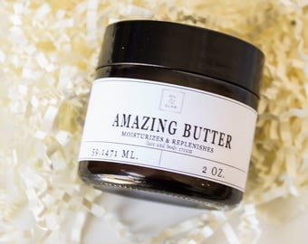 Amazing butter / eczema / rosacea / dry skin / scars / organic + 100 % natural + essential oils