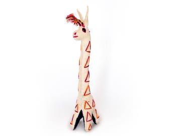 Handmade 100% Wool / Giraffe / Mexican Folk Toy