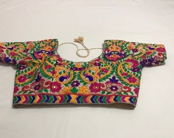 New Readymade Embroidery Work Saree Blouse/ India Saree Blouse Size: 36