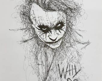Why so serious? Joker portrait.