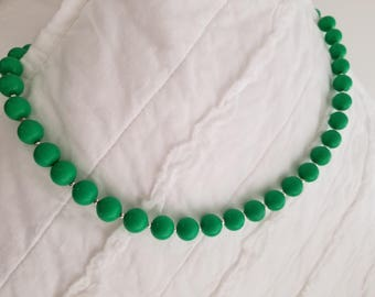 Classy Green Bead Necklace