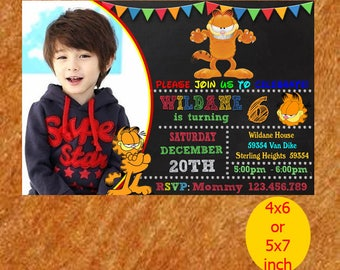 Garfield Birthday Invitation, Garfield Invitation, Garfield Birthday, Garfield Party, Garfield Printable, Instant Download