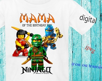 Mama,Ninjago Birthday Shirt DIY, Ninjago Iron On Transfer DIY, Ninjago Birthday Boy Shirt Iron On Transfer,Instant Download,Digital File