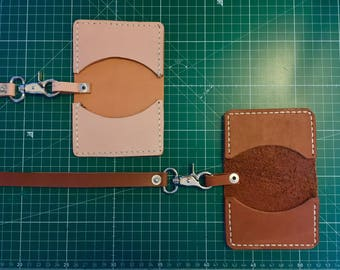 Minimal wallet with leather chain