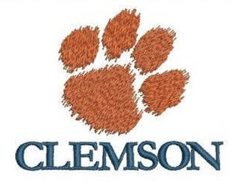Clemson University 2 - NCAA logo embroidery design / embroidery designs / INSTANT download machine embroidery pattern