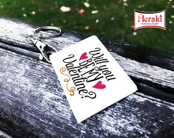 Be my valentine key chain, Valentine's day Key chains, Photo Key chains, Sublimation Key chains