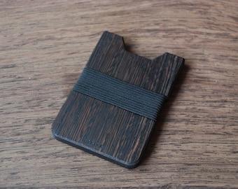 Kardia Wood Wallet, Wenge Wood, Christmas Gift, Minimalist Wallet