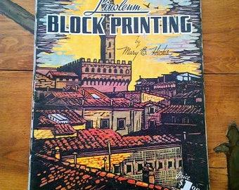Linoleum Block Printing by Mary Hicks