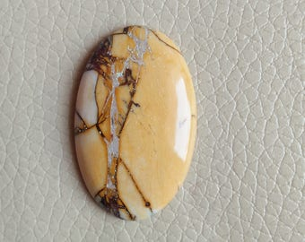 Beautiful Bracitate Mookaite Jasper 1 Pieces 37 Carat Stone , Natural Bracitate Mookaite Ovel Shapes Cabochon Size 40x26x7 MM Approx.