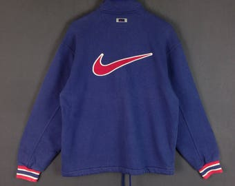Vintage Nike big logo spell out logo Nike big swoosh sweater jacket full zipper medium size