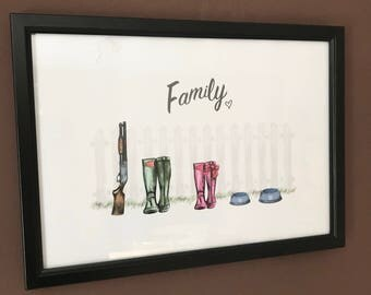 Family Welly Frame