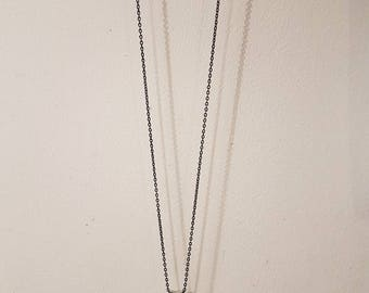 Necklace chain, pendant heart concrete and finish gold leaf