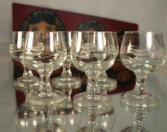 Vintage Glassware, Shot Glasses, Russian Vodka, Vintage Glass Sets 1970s, Russian Cut Glass, Old Glasses, Crystal Glassware, Vintage Glasses
