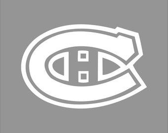 Montreal Canadiens White Vinyl Decal