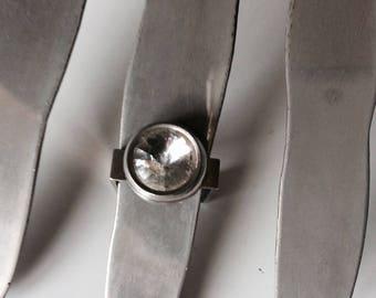 Fancy rhinestone ring