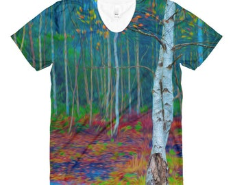 autumn colors - Sublimation women's crew neck t-shirt