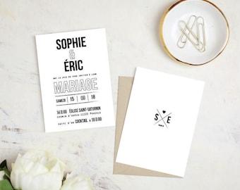 Invitation wedding - Typo Collection