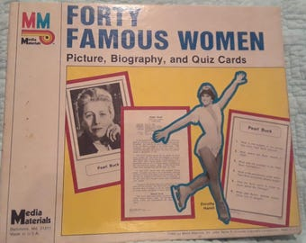 Forty Famous Women Picture, Biography, and Quiz Cards